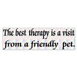 Best Therapy is a Visit Bumper Sticker