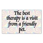Best Therapy is a Visit Rectangle Sticker