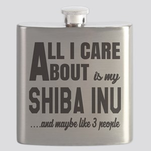 All I care about is my Shiba Inu Dog Flask