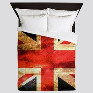 British UK Flag Grunge Vintage Queen Duvet
