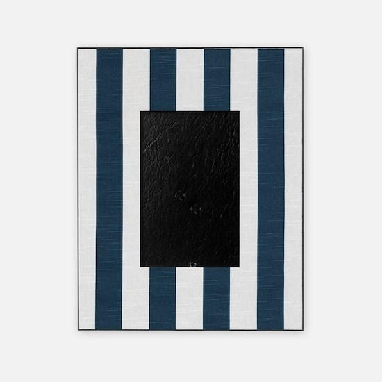 coastal blue nautical stripes picture frame - Nautical Picture Frame
