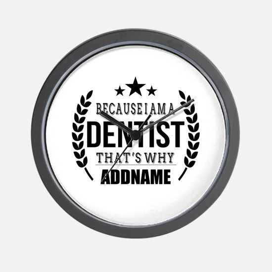 Dentist Gifts Personalized Wall Clock