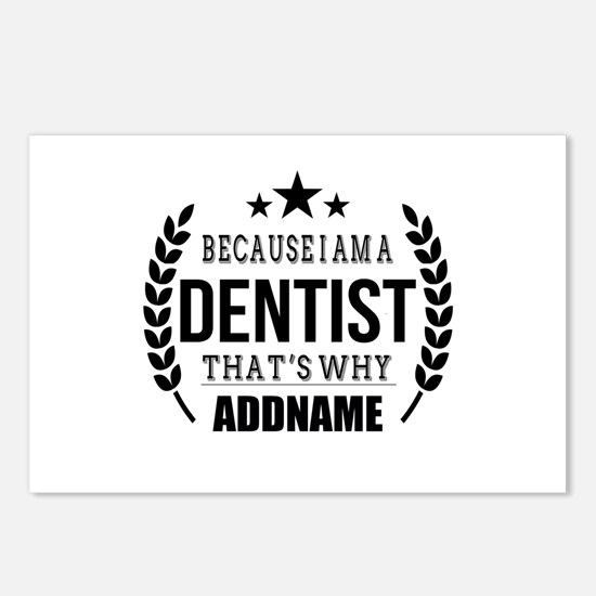 Dentist Gifts Personalize Postcards (Package of 8)