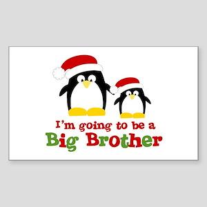 penguin big brother surprise Rectangle Sticker