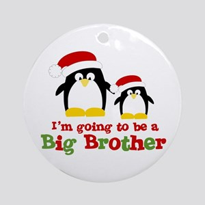 penguin big brother surprise Ornament (Round)