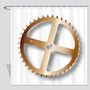 Bicycle Driving Cog Shower Curtain