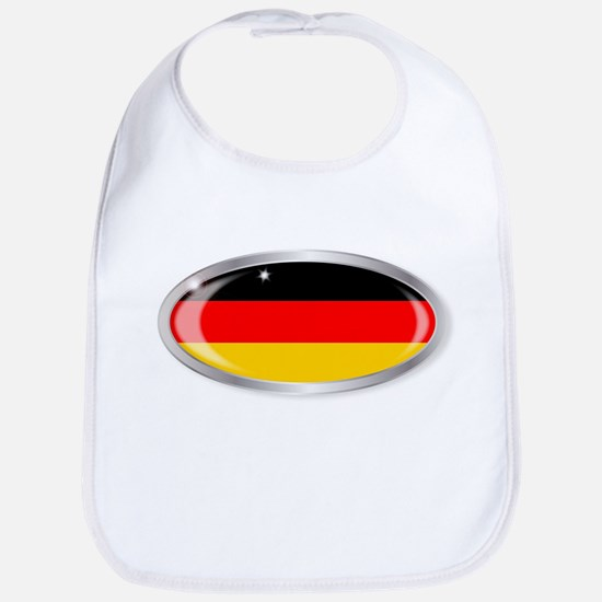 German Flag Oval Button Bib