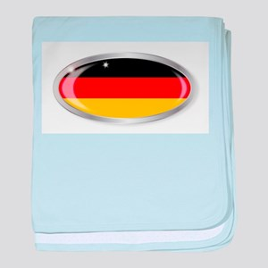 German Flag Oval Button baby blanket