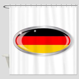 German Flag Oval Button Shower Curtain