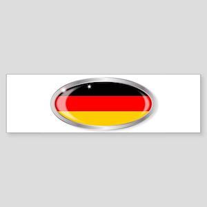 German Flag Oval Button Bumper Sticker