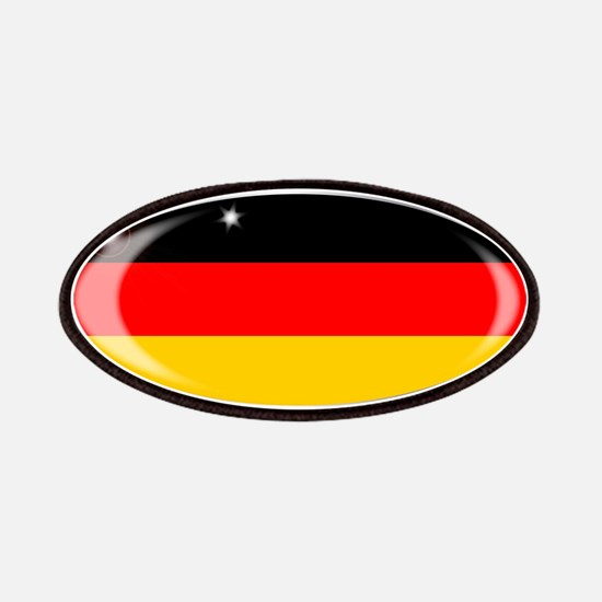 German Flag Oval Button Patch