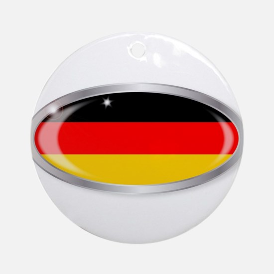 German Flag Oval Button Round Ornament