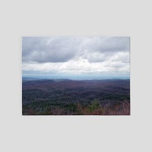 Mountain View Endless Treetops 5'x7'Area Rug