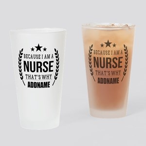 Gifts for Nurses Personalized Drinking Glass