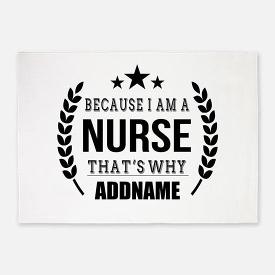 Gifts for Nurses Personalized 5'x7'Area Rug