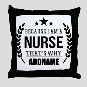 Gifts for Nurses Personalized Throw Pillow
