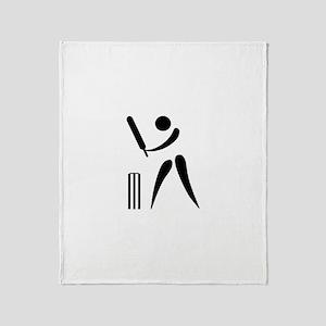Team Cricket Throw Blanket