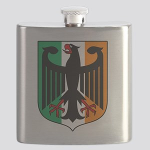 Patriotic German Irish Heritage Flask