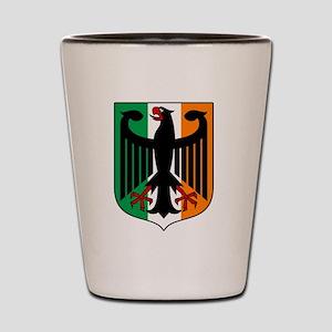 Patriotic German Irish Heritage Shot Glass