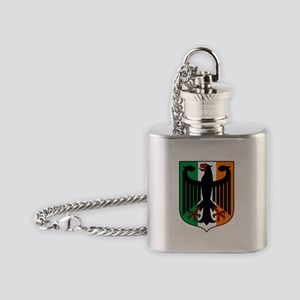 Patriotic German Irish Heritage Flask Necklace