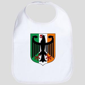 Patriotic German Irish Heritage Bib