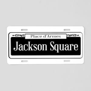 Jackson Square Aluminum License Plate