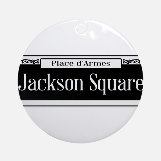 Jackson Square Round Ornament