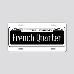 French Quarter Aluminum License Plate