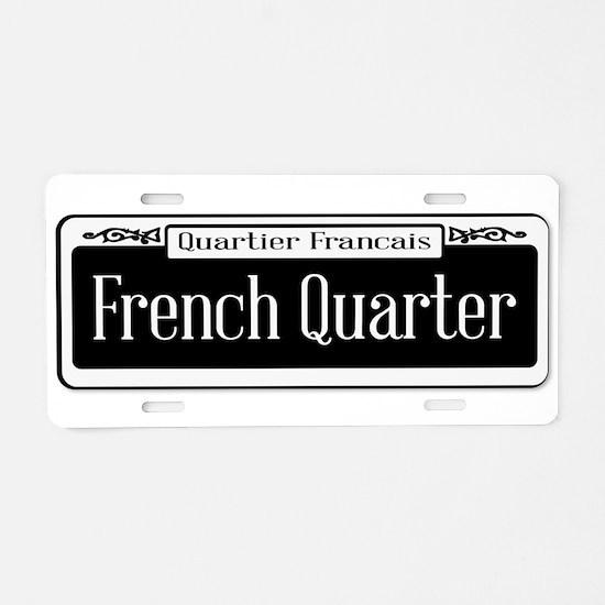 French Quarter Aluminum License Plate