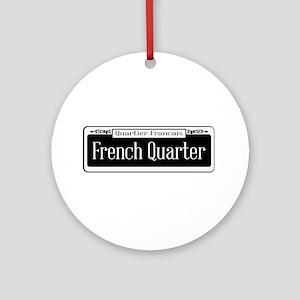French Quarter Round Ornament
