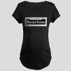 Rue Bourbon Street Sign Maternity T-Shirt