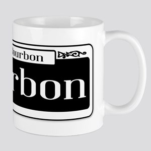 Rue Bourbon Street Sign Mugs