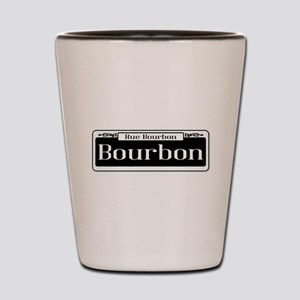 Rue Bourbon Street Sign Shot Glass