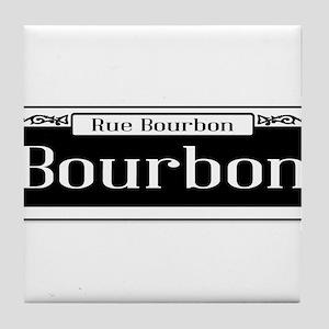 Rue Bourbon Street Sign Tile Coaster