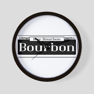 Rue Bourbon Street Sign Wall Clock