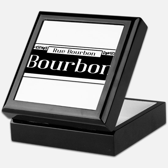 Rue Bourbon Street Sign Keepsake Box