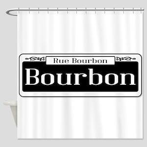 Rue Bourbon Street Sign Shower Curtain