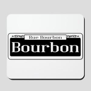 Rue Bourbon Street Sign Mousepad
