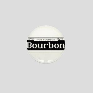 Rue Bourbon Street Sign Mini Button