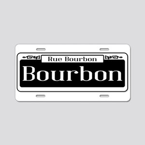 Rue Bourbon Street Sign Aluminum License Plate