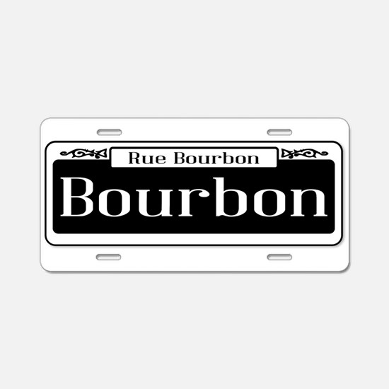 Rue Bourbon Street Sign Aluminum License Plate