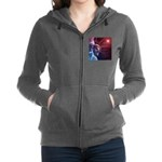 Patriotic Statue of Liberty Women's Zip Hoodie