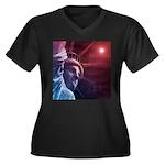 Patriotic St Women's Plus Size V-Neck Dark T-Shirt