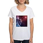 Patriotic Statue of Liberty Women's V-Neck T-Shirt
