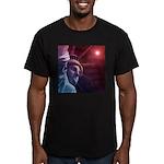 Patriotic Statue of Li Men's Fitted T-Shirt (dark)