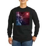 Patriotic Statue of Liber Long Sleeve Dark T-Shirt