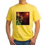 Patriotic Statue of Liberty Yellow T-Shirt