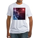 Patriotic Statue of Liberty Fitted T-Shirt