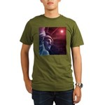 Patriotic Statue of L Organic Men's T-Shirt (dark)