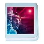 Patriotic Statue of Liberty baby blanket